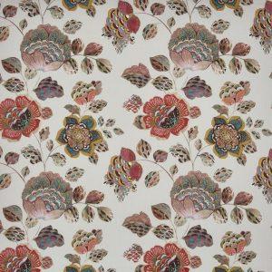 draperii florale culoare teracota