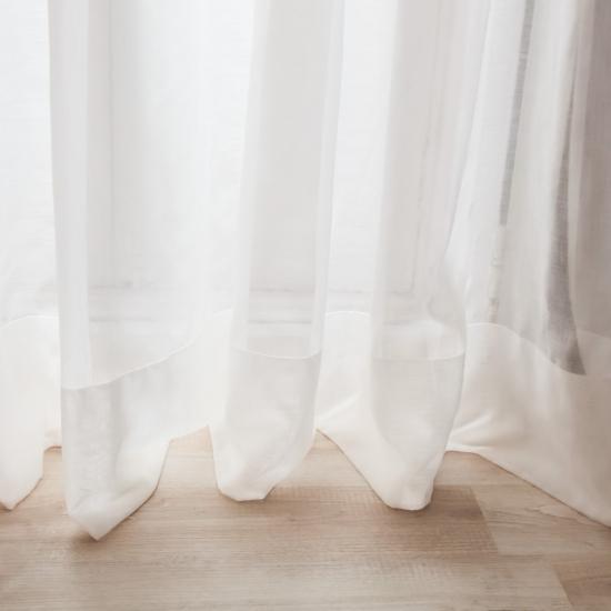 Perdele uni Savoy Blanco