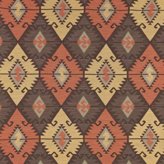 Material tapiterie cu motive etnice traditionale Tabriz Salmon