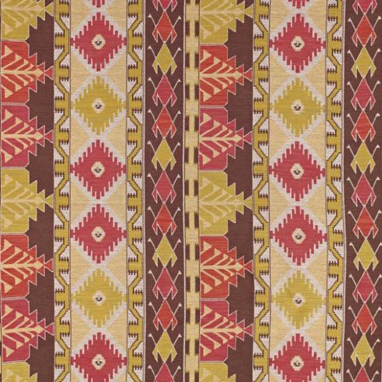 Material textil pentru tapiterie cu motive etnice Izmit Fucsia