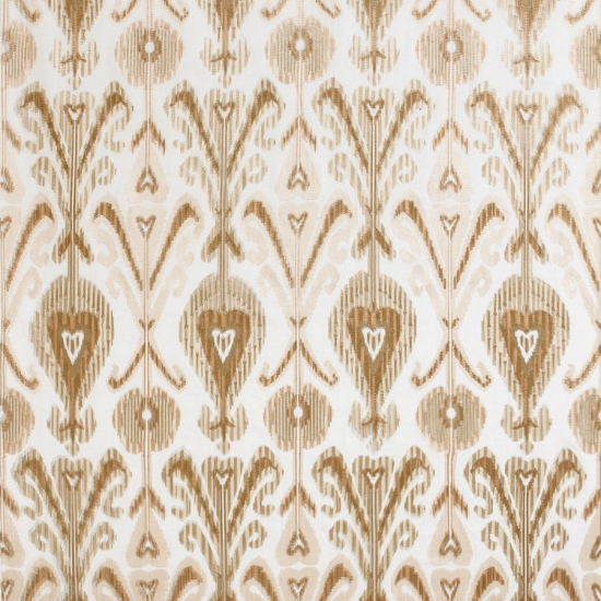 Material textil pentru tapiterie din in brodat Kashmir Beige