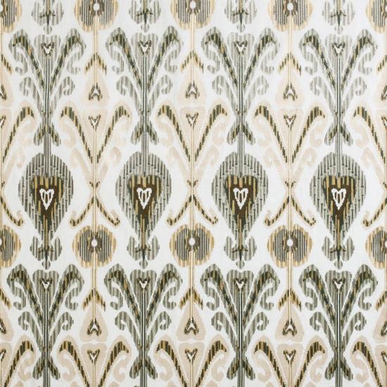 Material textil pentru tapiterie din in brodat Kashmir Jade