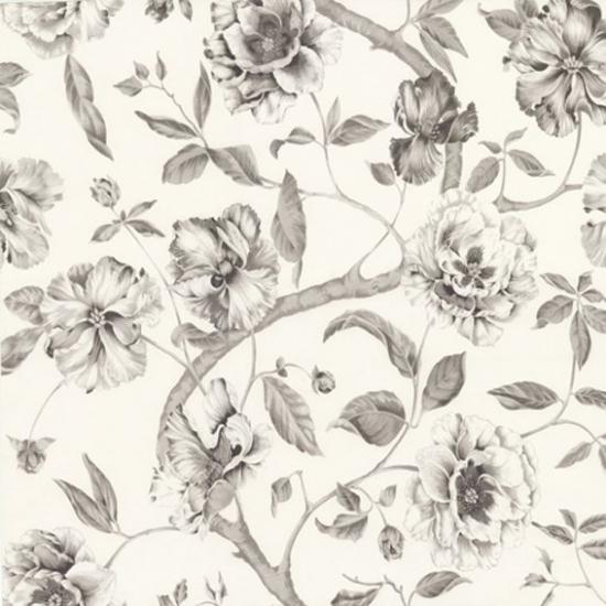 Tapet cu flori Adagio Gris