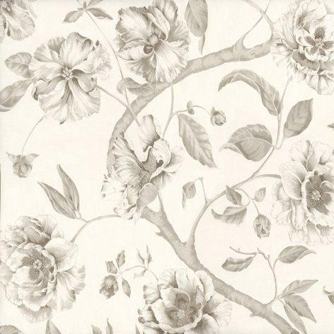 Tapet cu flori Adagio Plata