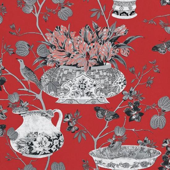 Tapet cu flori Samurai Rojo