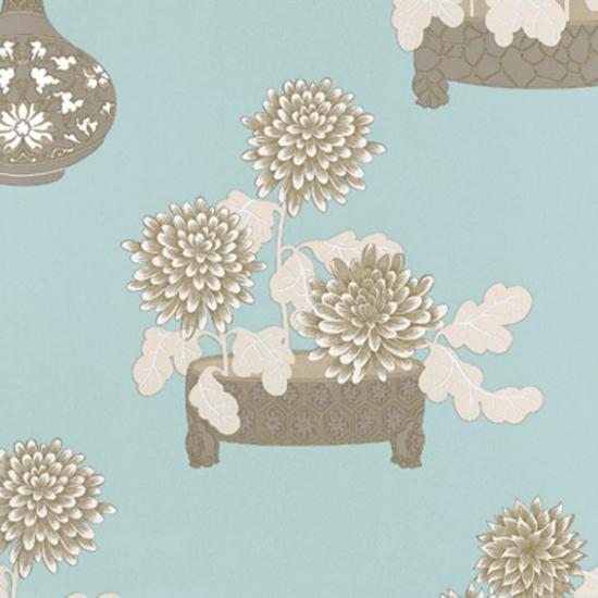 Tapet cu flori Sayonara Jade