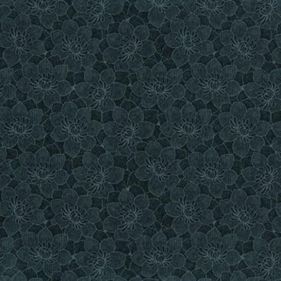Tapet floral Babel Negro
