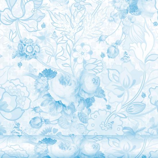Tapet floral Berenice Azul