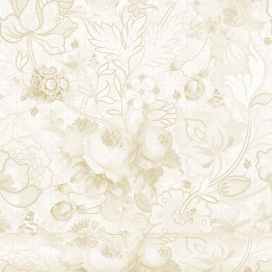 Tapet floral Berenice Natur