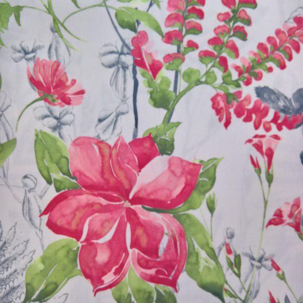 Draperii din bumbac cu model floral Melissa 01