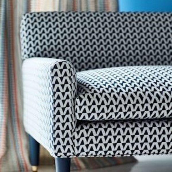 Material tapiterie cu model geometric Domino Niagara