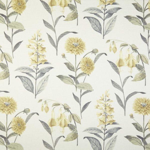Draperii cu flori Bloomingdale Chartreuse