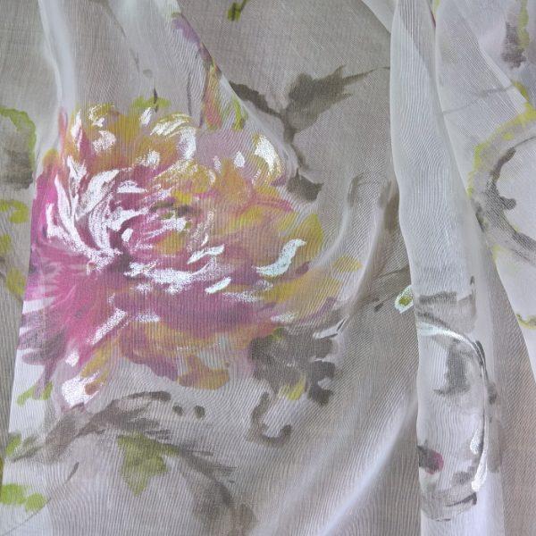 Perdele cu flori Gertrud Violet