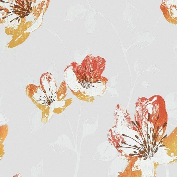 Perdele cu flori Orange