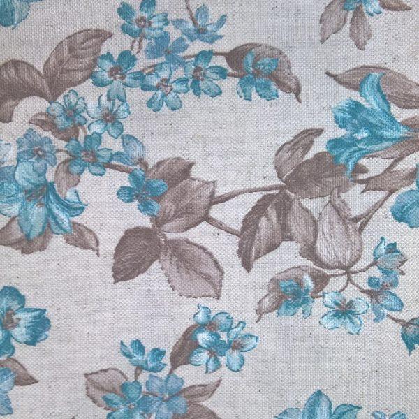 Draperii cu flori Lodi Turquaise
