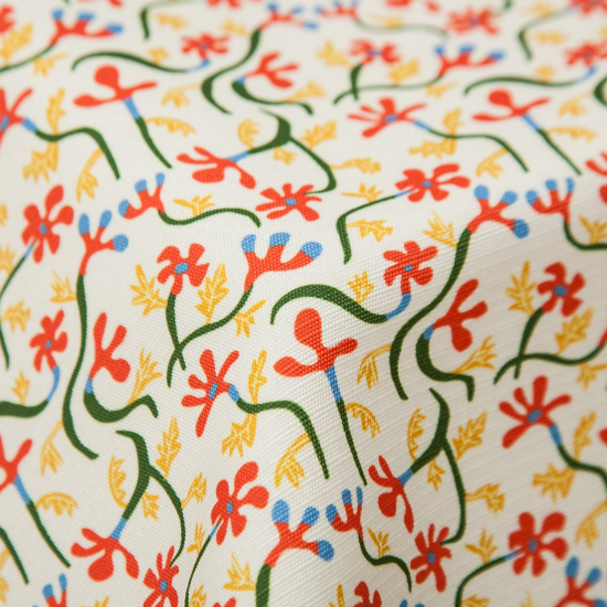Material textil outdoor ignifug Malvarrosa Blanco