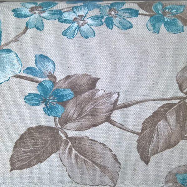 Draperii model floral Lanzarote Turquaise