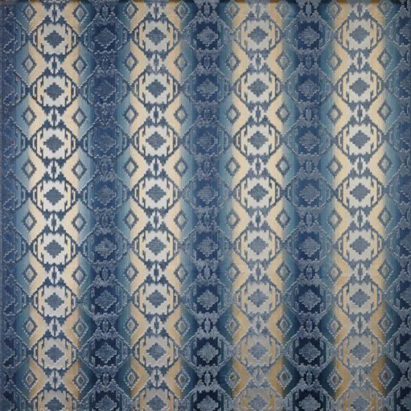 Draperii cu motive geometrice Navajo Denim