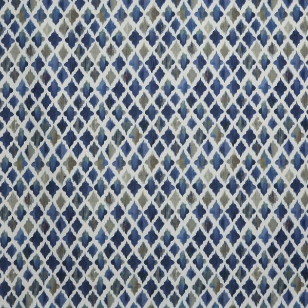 Material tapiterie model geometric Monsoon Indigo