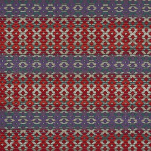 Material tapiterie cu motive geometrice Zebedee Loganberry