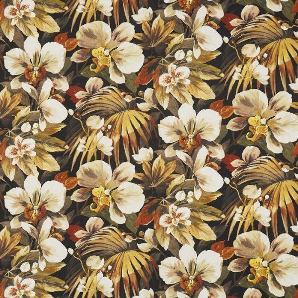 Draperii florale Moorea Papaya