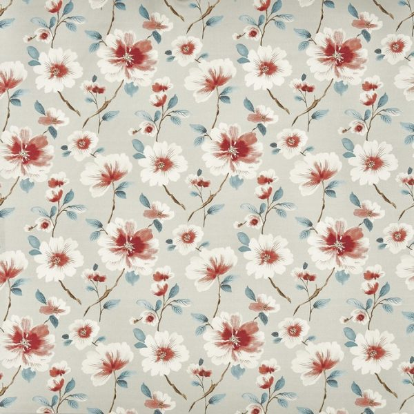 Draperii florale Abbotsbury Sapphire