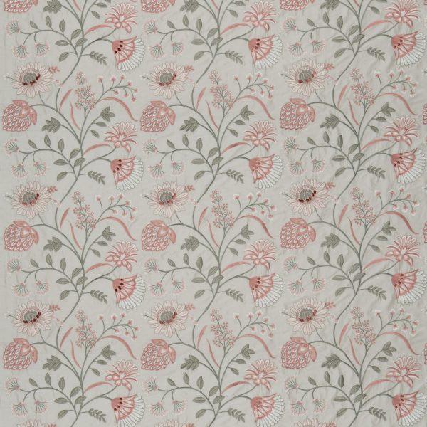 Draperii din matase brodate Siam Silk Rice Paper/Dusky Rose