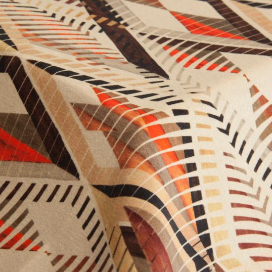 Catifea imprimata pentru tapiterie Tuareg Velvet Multicolor