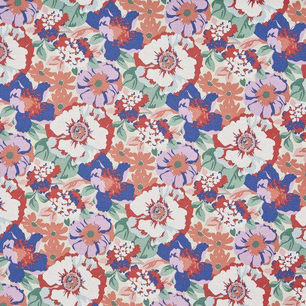 Draperii florale inspiratie retro Zumba Raspberry