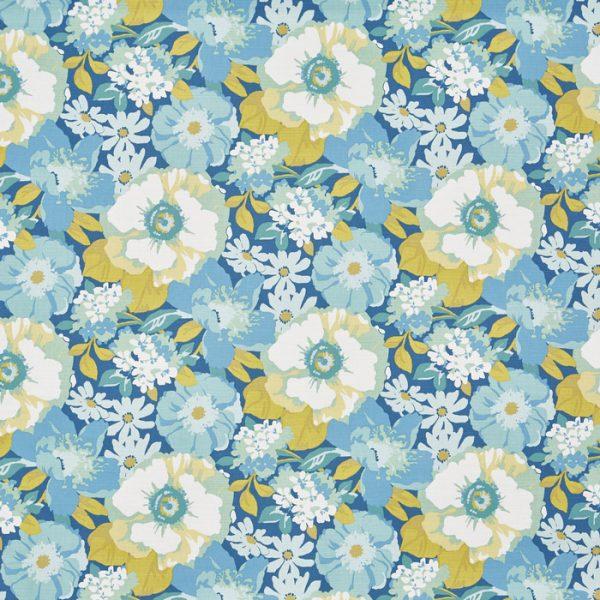 Draperii florale inspiratie retro Zumba Lemon Zest