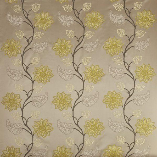 Draperii model floral Wilton Pistachio