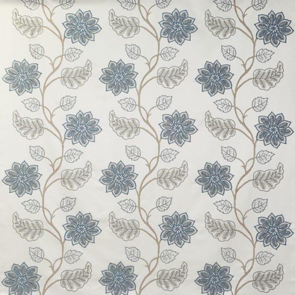 draperii model floral wilton azure