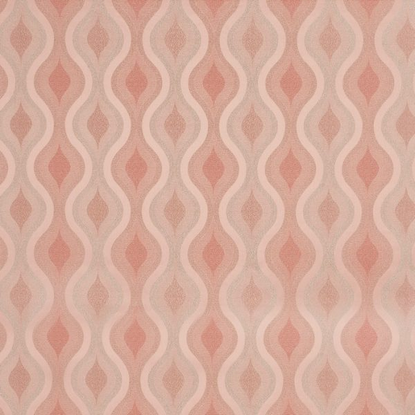 Draperii cu model geometric Deco Blush