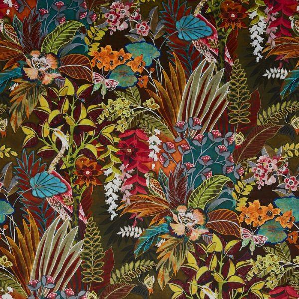 Draperii catifea imprimata Hidden Paradise Calypso