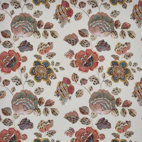 draperii florale tambora coral