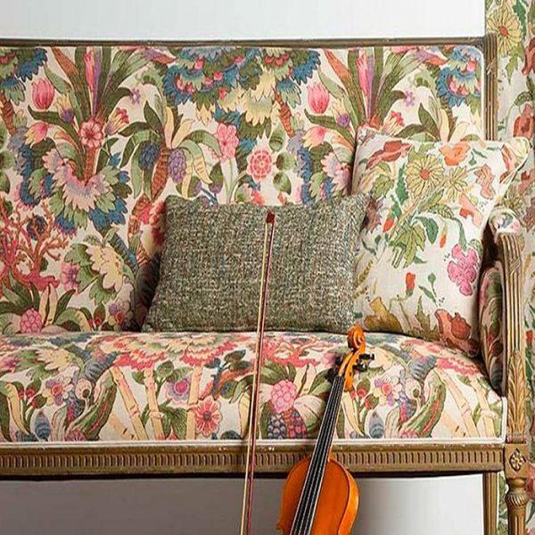 Material textil cu imprimeu floral Amadeus