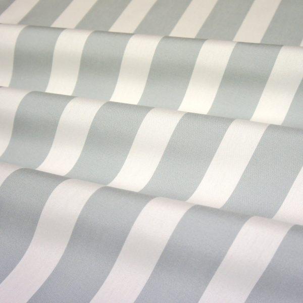 Material textil pentru exterior Listado Gris Claro Blanco