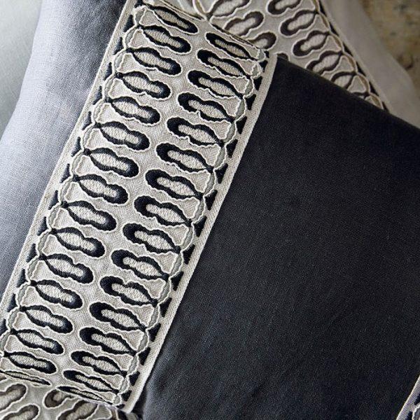 banda decorativa draperii tapiterie Tudor-braid Ink