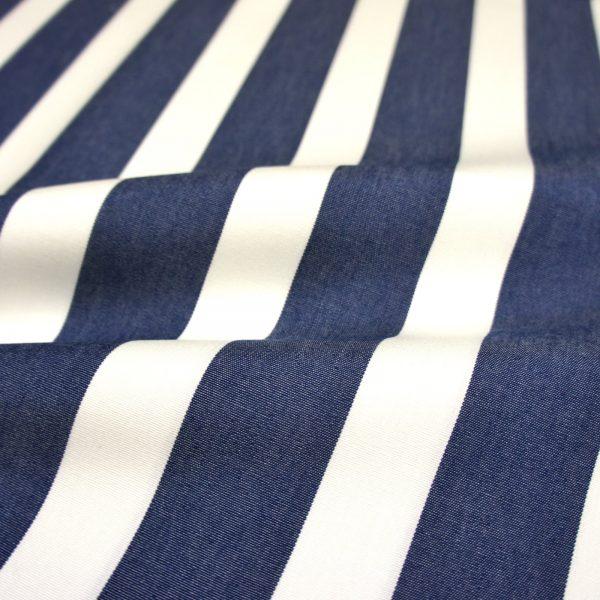 Material textil pentru exterior Listado Azul Oscuro