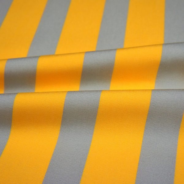 Material textil pentru exterior Listado Gris-Amarillo