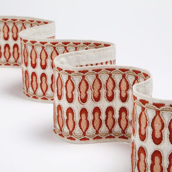 Banda decorativa draperii/tapiterie Tudor-braid Terracotta