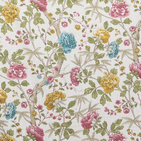 Material tapiterie cu model floral Benmore 2