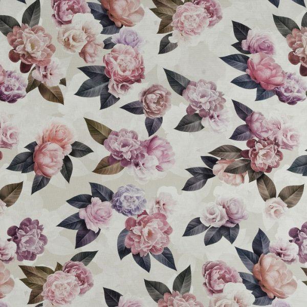 Material textil floral Roses 01