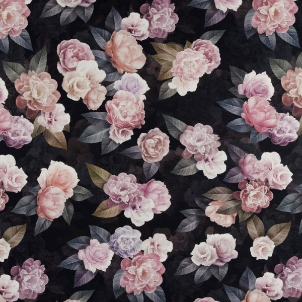 Material textil floral Roses 02