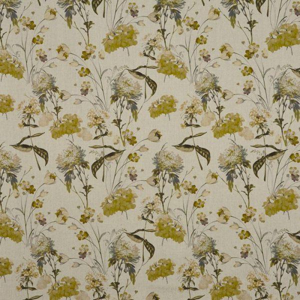 draperii cu imprimeu floral chiswick ochre