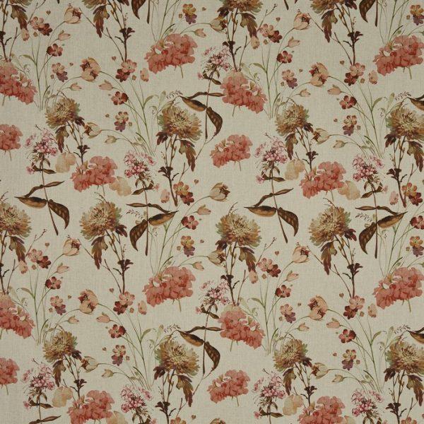 Draperii cu imprimeu floral Chiswick Russet