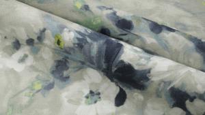 material cu flori pentru canapea