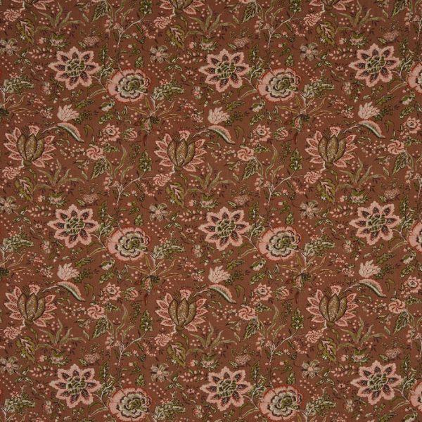 Material pentru tapiterie cu model floral Apsley Russet