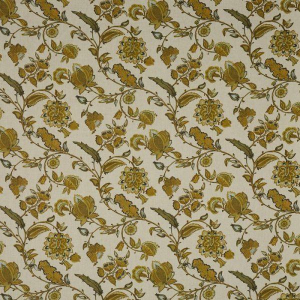Material tapiterie cu design floral Kenwood Ochre