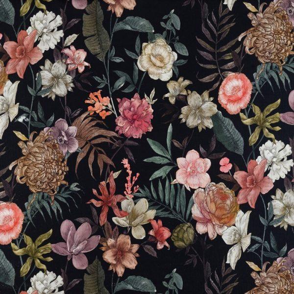 Material tapiterie cu flori Fern